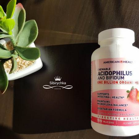 Chewable Acidophilus and Bifidum, Natural Strawberry Flavor