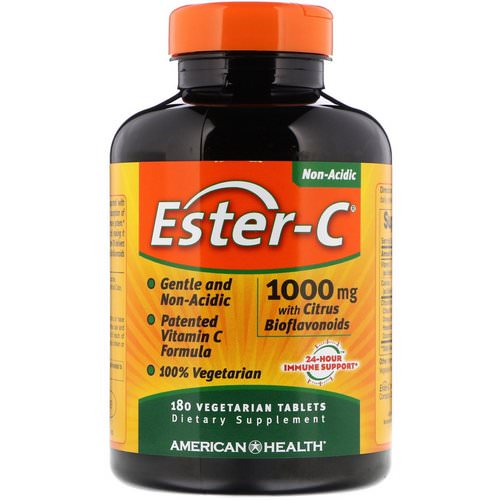 American Health, Ester-C with Citrus Bioflavonoids, 1,000 mg, 180 Vegetarian Tablets Review