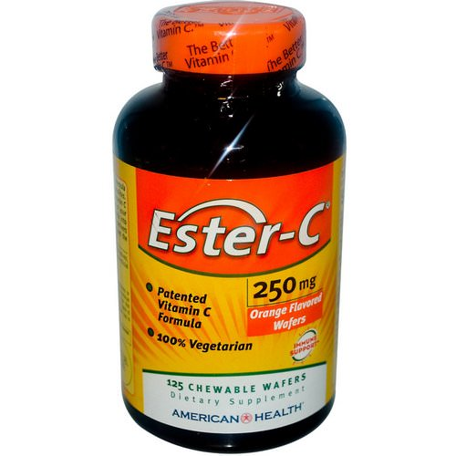 American Health, Ester-C, Orange Flavor, 250 mg, 125 Chewable Wafers Review
