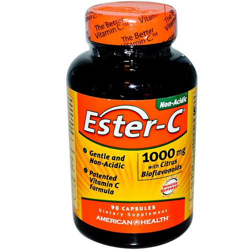 American Health, Ester-C With Citrus Bioflavonoids, 1,000 mg, 90 Capsules Review