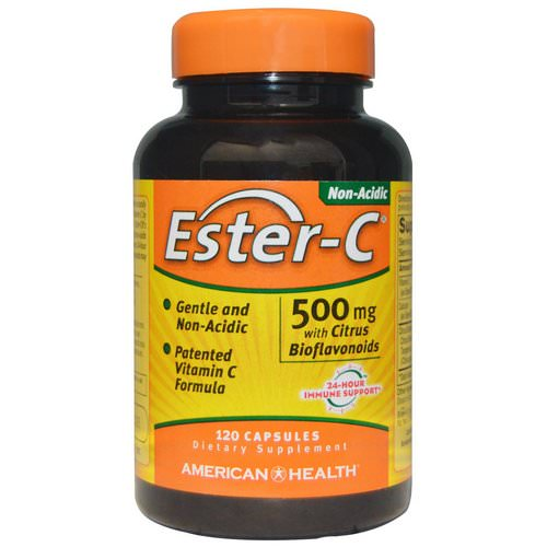 American Health, Ester-C with Citrus Bioflavonoids, 500 mg, 120 Capsules Review