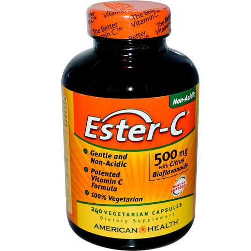 American Health, Ester-C with Citrus Bioflavonoids, 500 mg, 240 Veggie Caps Review