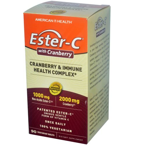 American Health, Ester-C with Cranberry & Immune Health Complex, 90 Veggie Tabs Review
