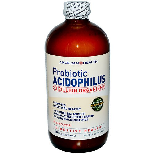 American Health, Probiotic Acidophilus, Plain Flavor, 16 fl oz (472 ml) Review