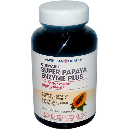 American Health, Super Papaya Enzyme Plus, 180 Chewable Tablets Review