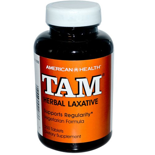 American Health, TAM, Herbal Laxative, 250 Tablets Review