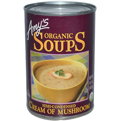 Amy's, Organic Soups, Cream of Mushroom, 14.1 oz (400 g) Review
