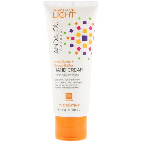 Andalou Naturals, A Path of Light, Shea Butter + Cocoa Butter Hand Cream, Clementine, 3.4 fl oz (100 ml) Review