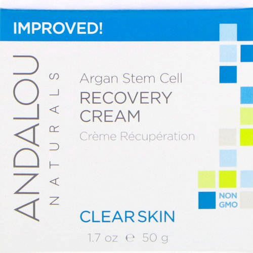 Andalou Naturals, Argan Stem Cell Recovery Cream, Clearer Skin, 1.7 fl oz (50 ml) Review