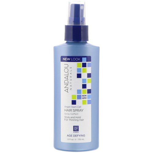 Andalou Naturals, Argan Stem Cells Hair Spray, Age Defying, 6 fl oz (178 ml) Review