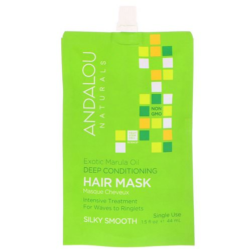 Andalou Naturals, Exotic Marula Oil Deep Conditioning Hair Mask, 1.5 fl oz (44 ml) Review