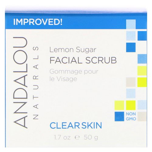 Andalou Naturals, Facial Scrub, Lemon Sugar, Clarifying, 1.7 oz (50 g) Review