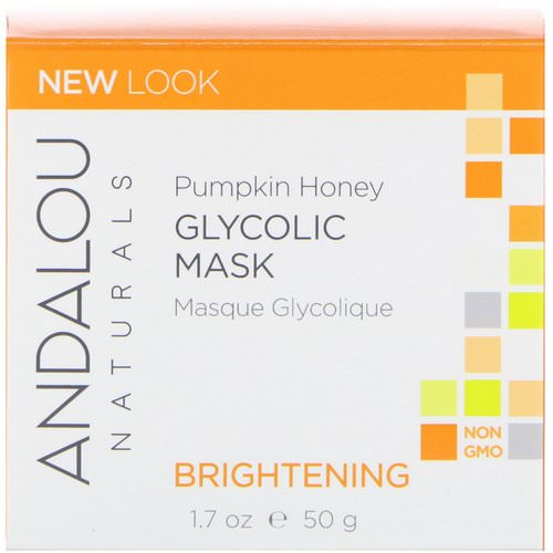 Andalou Naturals, Glycolic Mask, Pumpkin Honey, Brightening, 1.7 oz (50 g) Review