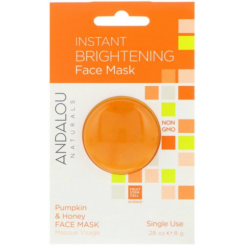 Andalou Naturals, Instant Brightening Face Mask, Pumpkin and Honey, .28 oz (8 g) Review