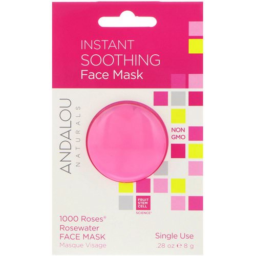 Andalou Naturals, Instant Soothing, 1000 Roses Rosewater Face Mask, .28 oz (8 g) Review