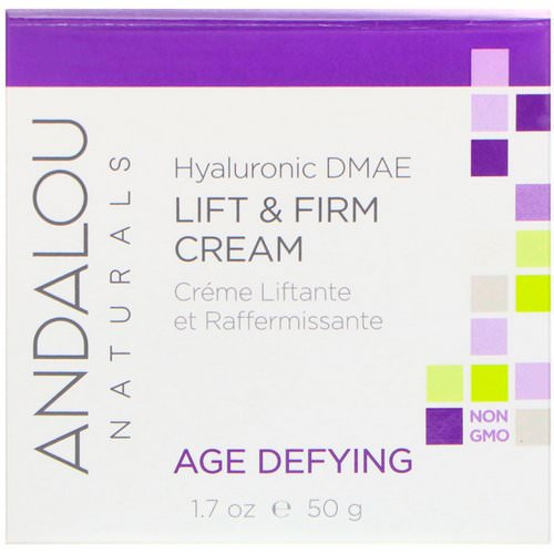 Andalou Naturals, Lift & Firm Cream, Hyaluronic DMAE, 1.7 oz (50 g) Review