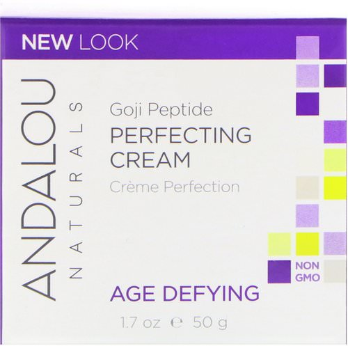 Andalou Naturals, Perfecting Cream, Goji Peptide, Age Defying, 1.7 fl oz (50 ml) Review