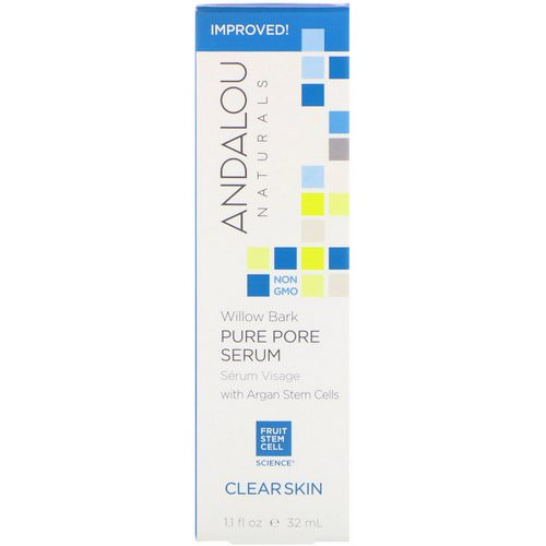 Andalou Naturals, Pure Pore Serum, Clear Skin, Willow Bark, 1.1 fl oz (32 ml) Review