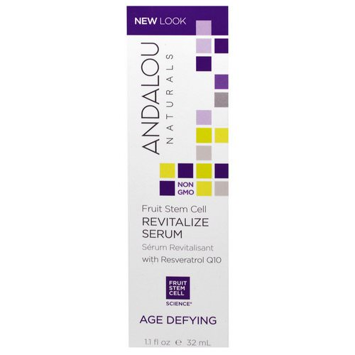 Andalou Naturals, Revitalize Serum with Resveratrol Q10, Age Defying, 1.1 fl oz (32 ml) Review