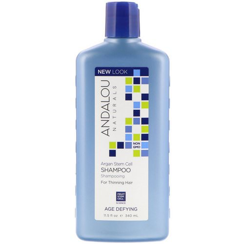 Andalou Naturals, Shampoo, Age Defying, For Thinning Hair, Argan Stem Cell, 11.5 fl oz (340 ml) Review