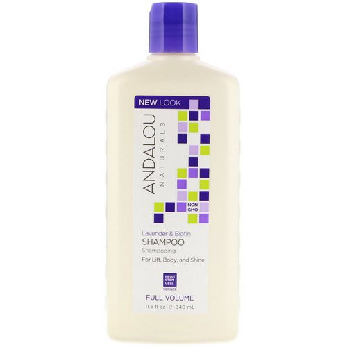 Andalou Naturals, Shampoo, Full Volume, For Lift, Body, and Shine, Lavender & Biotin, 11.5 fl oz (340 ml) Review