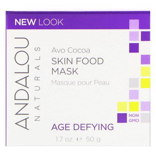 Andalou Naturals, Skin Food Mask, Avo Cocoa, Age Defying, 1.7 oz (50 g) Review