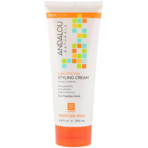 Andalou Naturals, Styling Cream, Argan Oil and Shea, Moisture Rich, 6.8 fl oz (200 ml) Review
