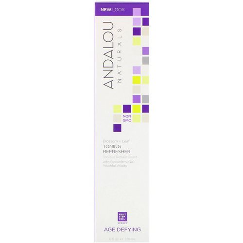 Andalou Naturals, Toning Refresher, Blossom + Leaf, Age Defying, 6 fl oz (178 ml) Review