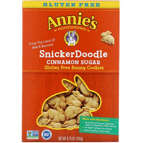 Annie's Homegrown, Gluten Free Bunny Cookies, SnickerDoodle, Cinnamon Sugar, 6.75 oz (191 g) Review