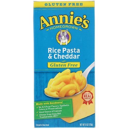 Annie's Homegrown, Gluten Free, Rice Pasta & Cheddar, 6 oz (170 g) Review