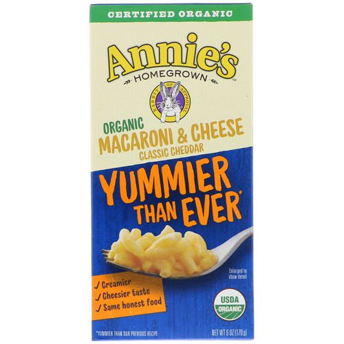 Annie's Homegrown, Organic Macaroni & Cheese, Classic Cheddar, 6 oz (170 g) Review