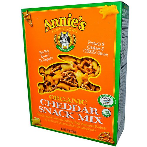 Annie's Homegrown, Organic, Snack Mix, Cheddar, 9 oz (255 g) Review