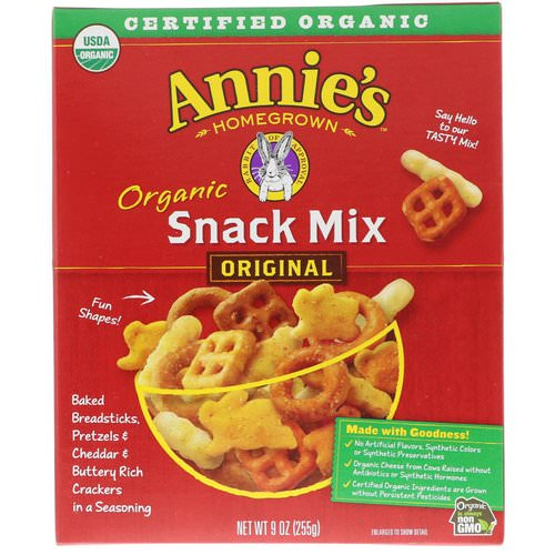 Annie's Homegrown, Organic Snack Mix, Original, 9 oz (255 g) Review