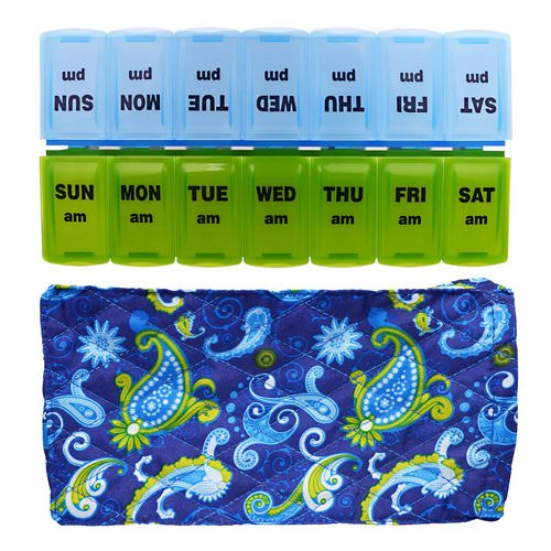Apex, Pill Organizer with Decorative Sleeve, AM/PM, 2 Pill Organizers Review