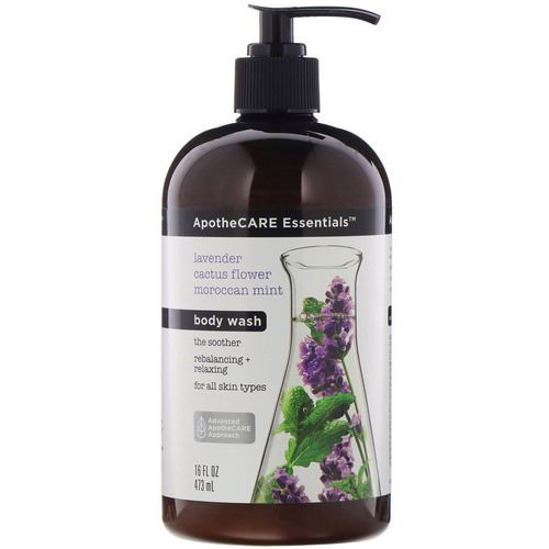ApotheCARE Essentials, The Soother, Body Wash, Lavender & Cactus Flower & Moroccan Mint, 16 fl oz (473 ml) Review