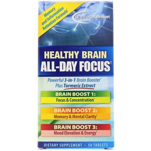 appliednutrition, Healthy Brain All-Day Focus, 50 Tablets Review