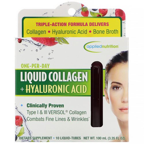 appliednutrition, Liquid Collagen + Hyaluronic Acid, 10 Liquid-Tubes, 10 ml Each Review