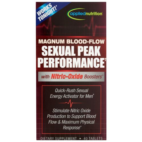 appliednutrition, Magnum Blood-Flow Sexual Peak Peformance, 40 Tablets Review