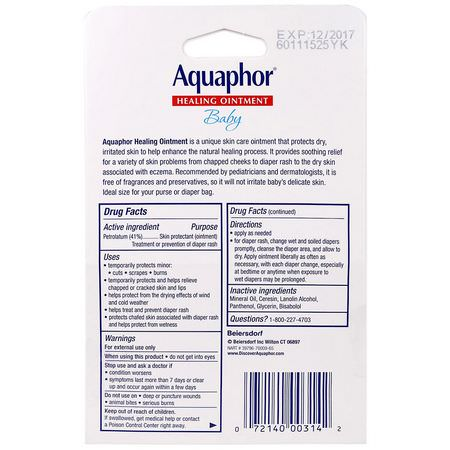 Aquaphor, Diaper Rash Treatments