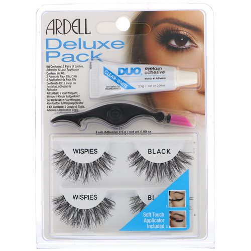 Ardell, Deluxe Pack, Wispies Lashes with Applicator and Eyelash Adhesive, 1 Set Review