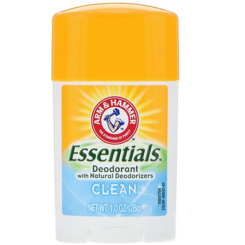 Arm & Hammer, Essentials Natural Deodorant, For Men and Women, Clean, 1.0 oz (28 g) Review