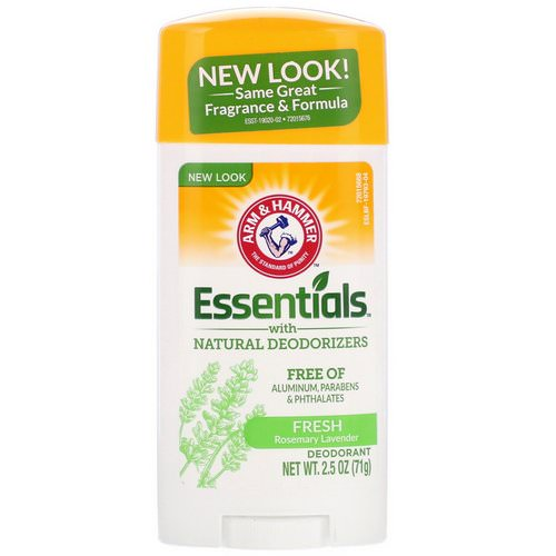 Arm & Hammer, Essentials Natural Deodorant, For Men and Women, Fresh, 2.5 oz (71 g) Review