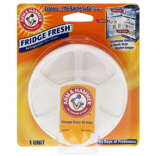 Arm & Hammer, Fridge Fresh Refrigerator Air Filter, 1 Unit Review