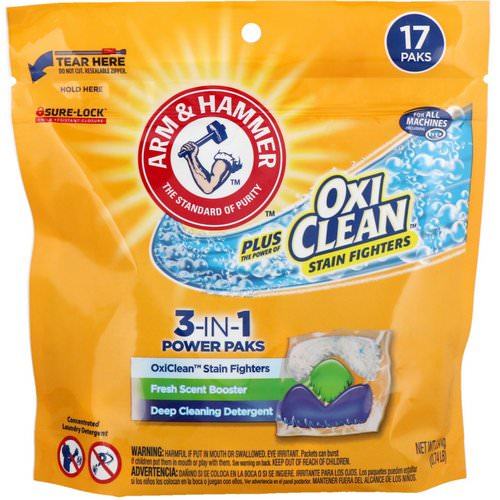 Arm & Hammer, Plus OxiClean 3-IN-1 Power Paks Laundry Detergent, Fresh Scent, 17 Paks Review