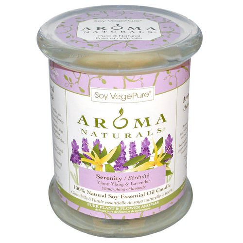 Aroma Naturals, 100% Natural Soy Essential Oil Candle, Serenity, Ylang Ylang & Lavender, 8.8 oz (260 g) 3