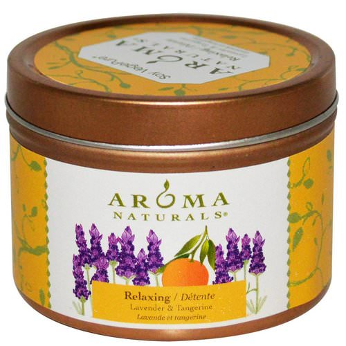 Aroma Naturals, Soy VegePure, Travel Tin Candle, Relaxing, Lavender & Tangerine, 2.8 oz (79.38 g) Review