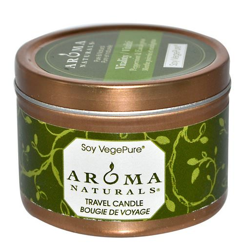 Aroma Naturals, Soy VegePure, Vitality, Travel Candle, Peppermint & Eucalyptus, 2.8 oz (79.38 g) Review
