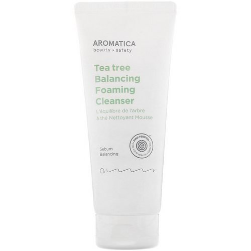 Aromatica, Tea Tree Balancing Foaming Cleanser, 6.3 oz (180 g) Review