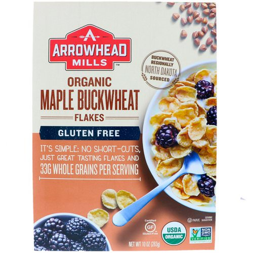 Arrowhead Mills, Organic Maple Buckwheat Flakes, Gluten Free, 10 oz (283 g) Review