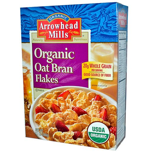 Arrowhead Mills, Organic Oat Bran Flakes, 12 oz (340 g) Review